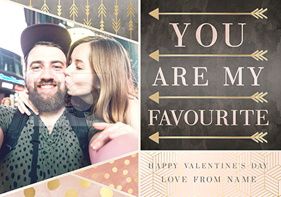 Valentine's Day Photo Upload Card - All that Shimmers You are my Favourite