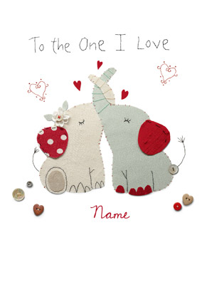Carlton - One I Love Elephants Card