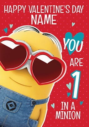 1 In A Minion Personalised Valentine's Day Card