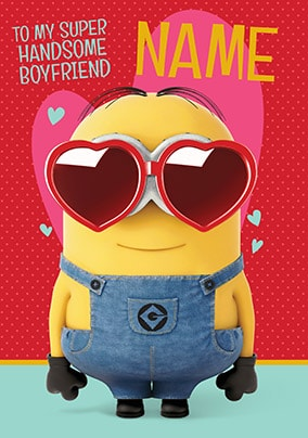 Despicable Me Boyfriend Personalised Valentine's Card