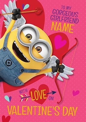 Despicable Me Girlfriend Personalised Valentine's Card