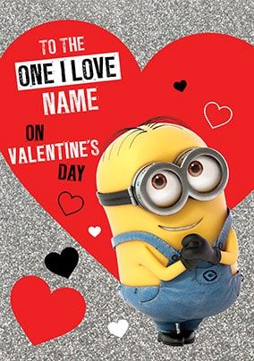 Despicable Me One I Love Personalised Valentine's Card