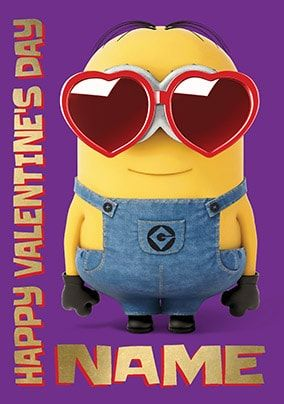Despicable Me Valentine's Day Personalised Card