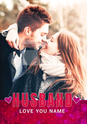 Love You Husband Photo Card