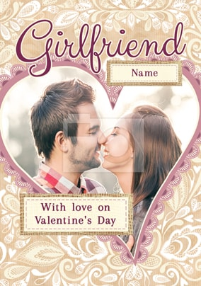 Girlfriend With Love Photo Card