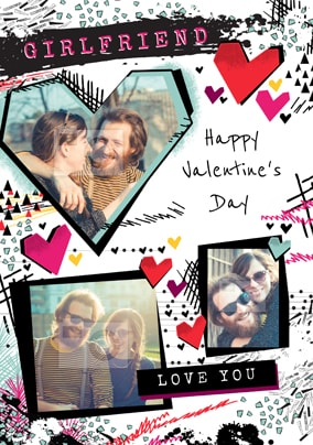 Girlfriend Happy Valentine's Day Photo Card