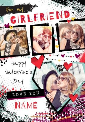 For My Girlfriend Valentine Multi Photo Card
