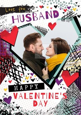 Husband Happy Valentine's Day Photo Card