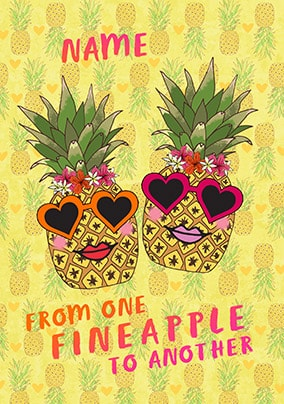 From One Fineapple To Another Personalised Card