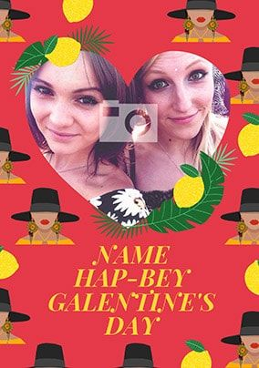 Hap-Bey Galentines Day Photo Card