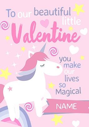 Beautiful Little Valentine Personalised Card