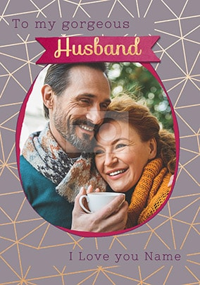 Gorgeous Husband Photo Valentines Card