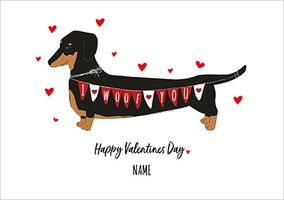 I Woof You Personalised Valentines Card