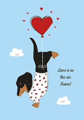 Love Is In The Air Personalised Card