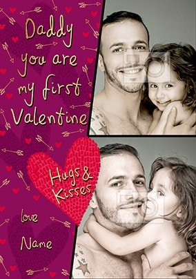 Daddy - My First Valentine Photo Card