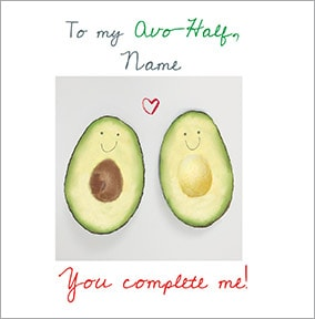 My Avo-Half Personalised Card