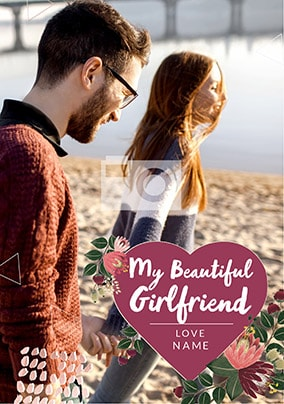 Beautiful Girlfriend Photo Valentines Card