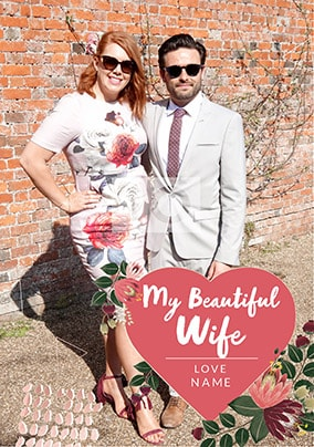 Beautiful Wife Photo Valentines Card