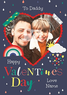 Daddy Valentines Day Photo Card