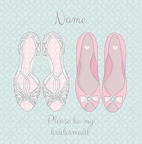 Please be my Bridesmaid Wedding Shoes Card