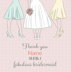 Fabulous Bridesmaid Thank You Card Funky Pigeon