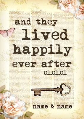Bookish Type - Happily Ever After Wedding Card