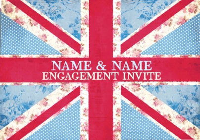 Cool Britannia - Engagement Party Invite