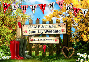 In The Country - Wedding Invitation