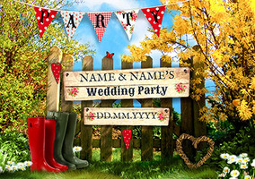 In The Country - Wedding Party Invite