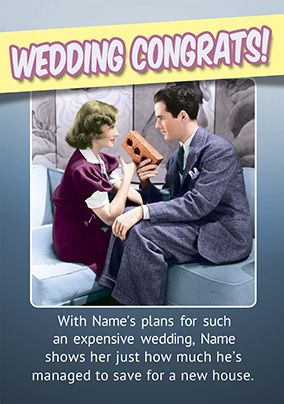 Emotional Rescue Wedding Day Card - Congrats!