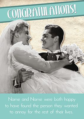 Emotional Rescue Wedding Day Card - Annoy