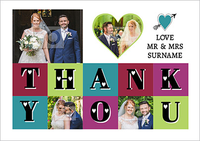 Essentials - Wedding Thank You Card Love the New Mr & Mrs