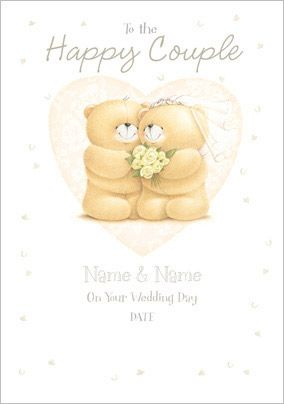 Forever Friends - The Happy Couple Wedding Card