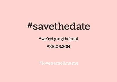 Hashtag Lol - Save the Date
