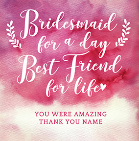 J'adore Bridesmaid for a Day Card