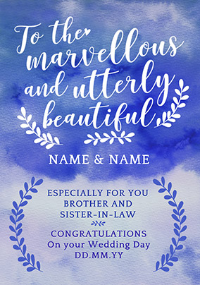 J'adore Wedding Card - Marvellous & Beautiful