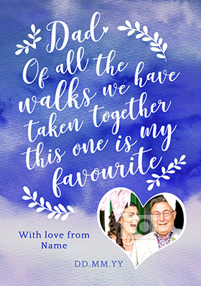 J'adore Father of the Bride Card