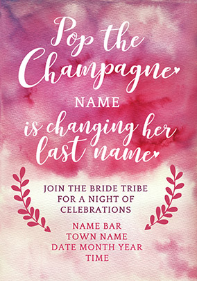 J'adore Hen Invitation Card - Pop the Champagne