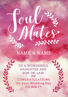 J'adore Soul Mates Wedding Day Card
