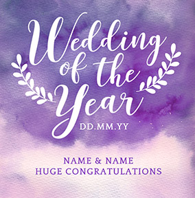 J'adore Wedding Day Card - Wedding Of The Year