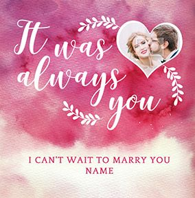 J'adore Wife To Be Wedding Card - It Was Always You