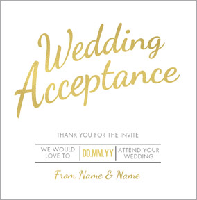 Luxe Love Affair - Wedding Acceptance