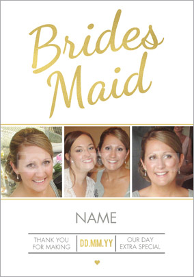 Luxe Love Affair - Bridesmaid Thank You