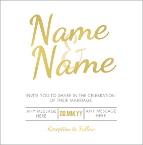 Luxe Love Affair - Wedding Invitation