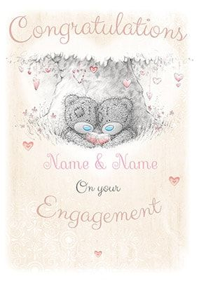 Congratulations On Your Engagement Card - Me To You