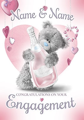 Congratulations On Your Engagement Personalised Card - Me To You