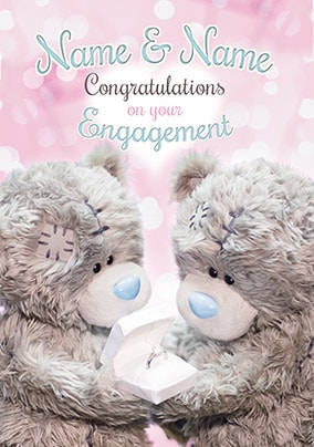 Congratulations Personalised Engagement Card - Me To You