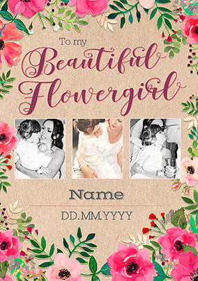 59a14523854 neon blush - multi photo upload beautiful flowergirl card