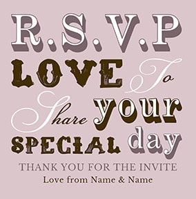 rsvp acceptance cards funky pigeon