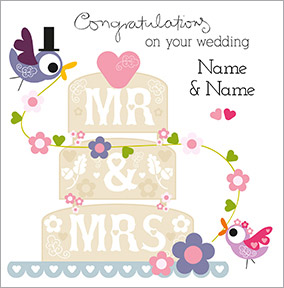 Wedding Congratulations Cards Funky Pigeon